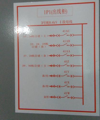 低压分支箱接线图